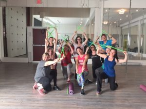 Students after their first Pound Fit Class at Aradia Fitness Calgary
